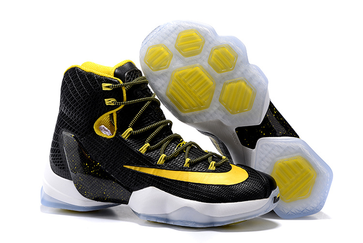 2016 Nike LeBron 13 Elite Black Yellow-White Basketball Shoes