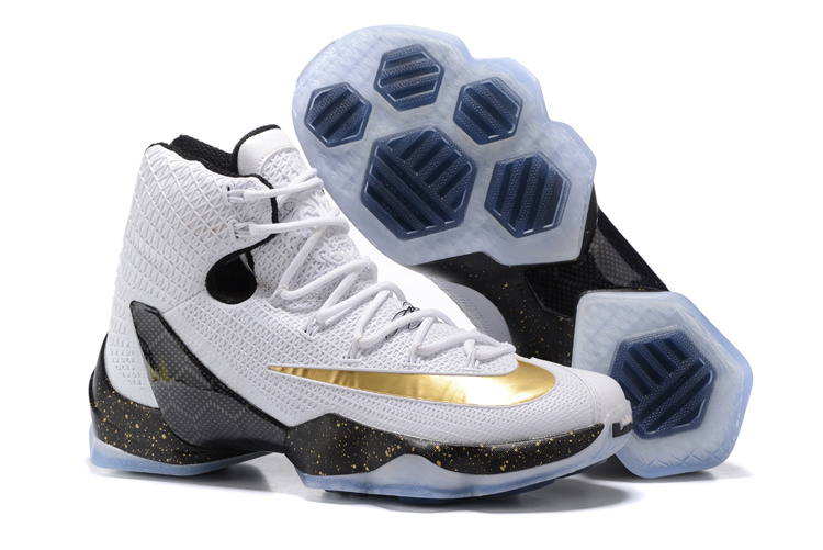 2016 Nike LeBron 13 Elite Gold White Black Metallic Gold