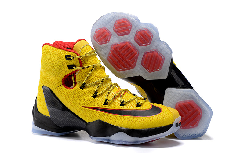 2016 Nike LeBron 13 Elite Yellow Black-Red