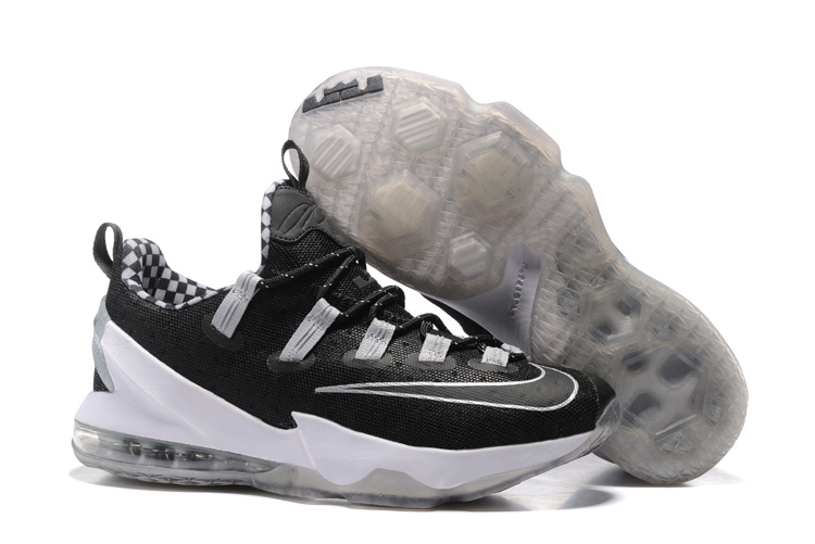 2016 Nike LeBron 13 Low Black Silver For Sale