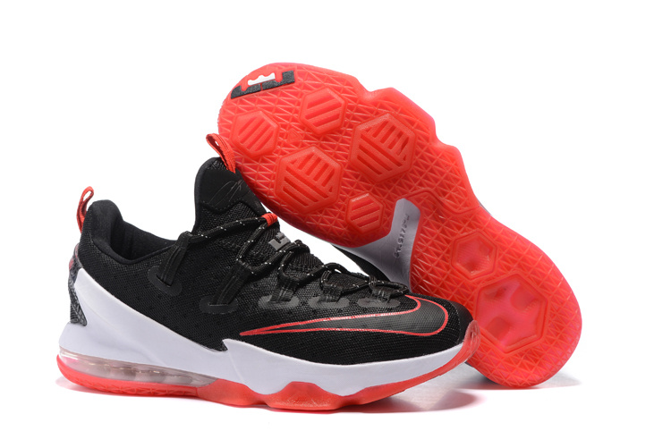 2016 Nike LeBron 13 Low Bred Black University Red-White For Sale