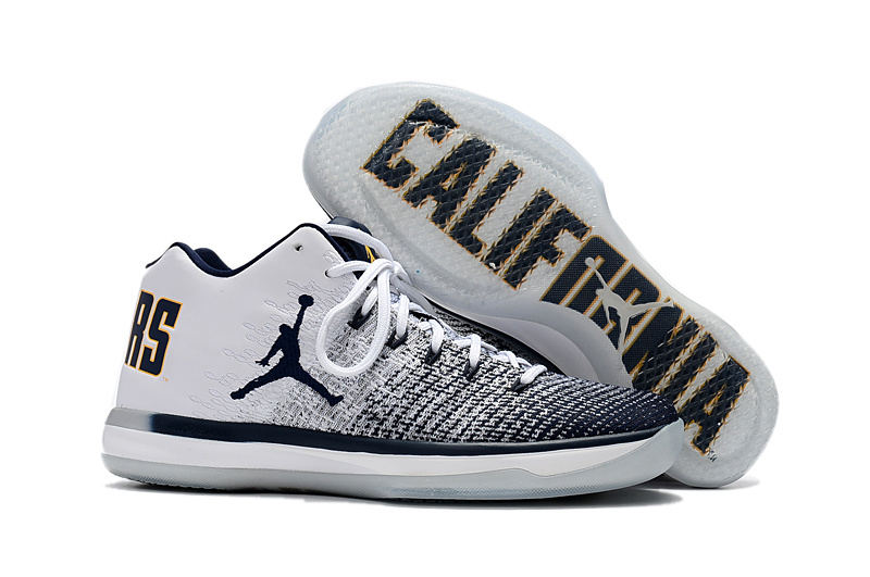 b75ee5858a65a2 2017 Cheap Air Jordan 31 Low Cal Bears White Amarillo-College Navy For Sale