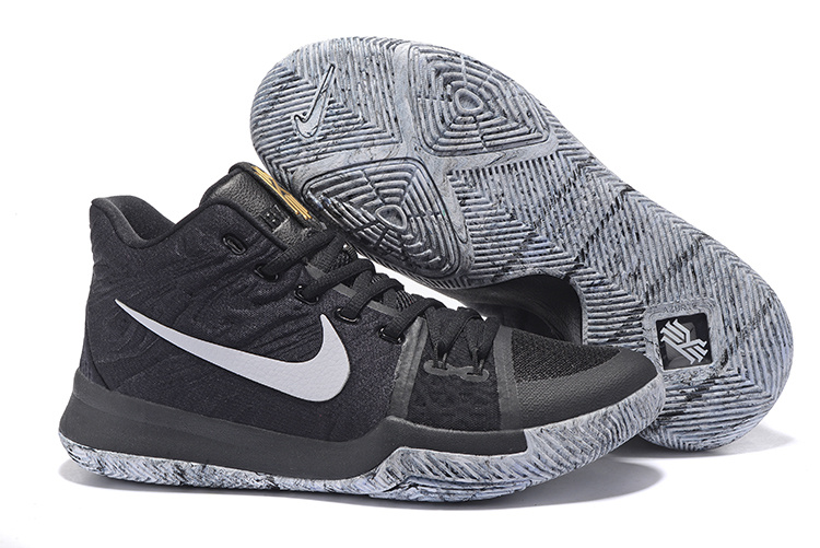 2017 Cheap Nike Kyrie 3 BHM Black Metallic Gold-White For Sale Online