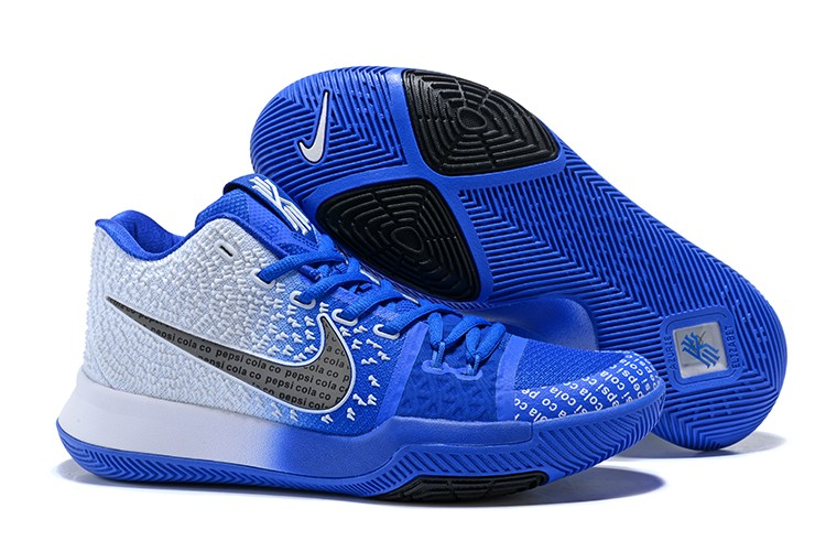 2017 Cheap Nike Kyrie 3 Uncle Drew Pepsi Cola Blue White For Sale