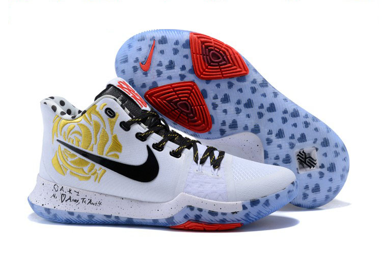 2017 Cheap Sneaker Room x Nike Kyrie 3 Mom White Gold Rose For Sale