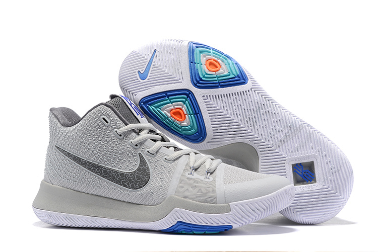 2017 Wholesale New Release Nike Kyrie 3 Wolf Grey Men Sneakers