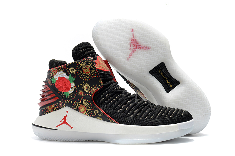5ee192ff701 2018 Air Jordan 32 XXXII CNY Black University Red White-Metallic Gold For  Sale