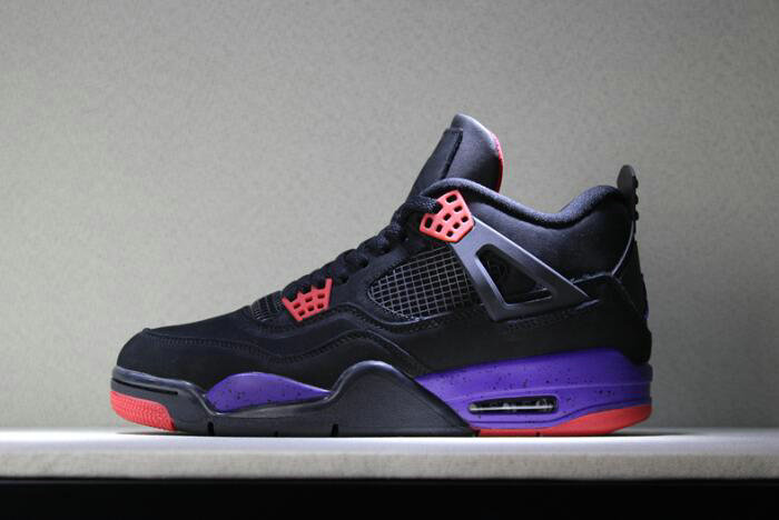b4bf687768f2 Cheap 2018 Air Jordan 4 NRG Raptors Black University Red-Court Purple  AQ3816-056