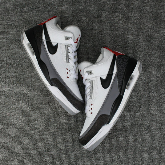 ad1cd90f6df93 2018 Air Jordan Shoes x Cheap Nike Air Jordan 3 Tinker NRG White Fire Red  Cement