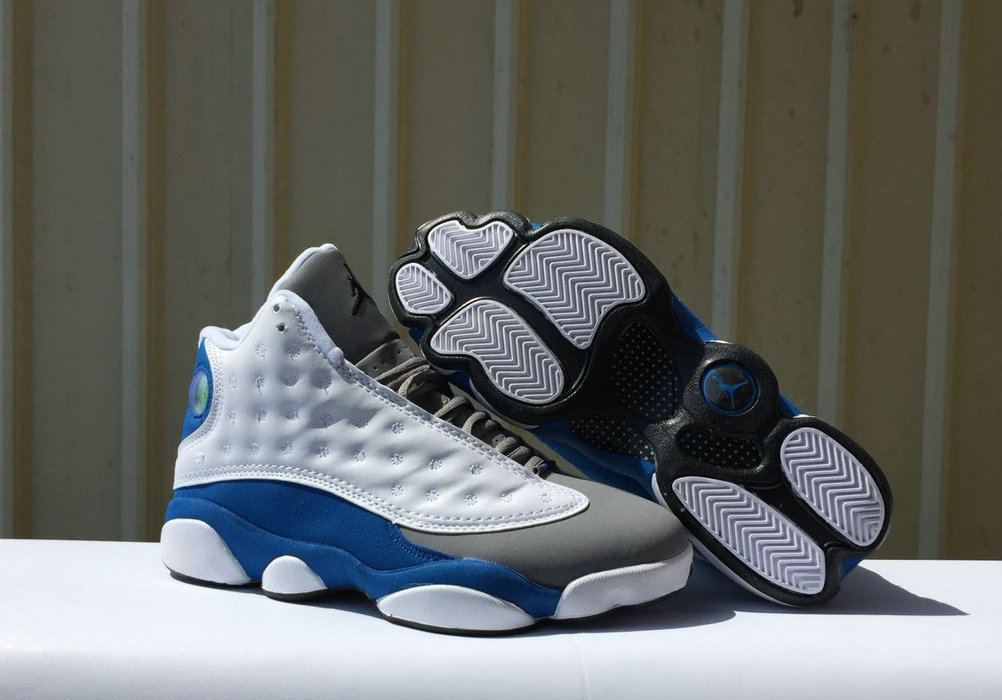 5e131e3e1c8f 2018 Air Jordan Shoes x Cheap Womens Nike Air Jordan 13 White Italy  Blue-Wolf