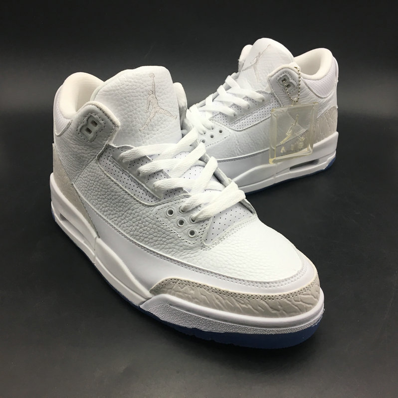 2018 Cheap Air Jordans Retro 3 Pure White