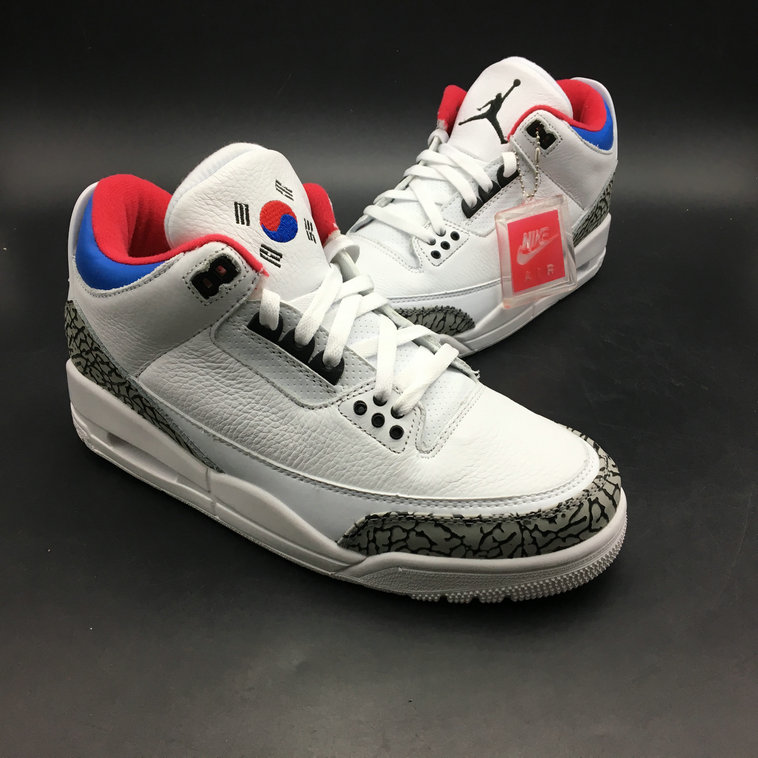 timeless design 1bf73 dff50 2018 Cheap Air Jordans Retro 3 Red Blue White Grey - Cheap Nike Air ...