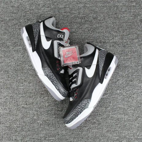 2018 Cheap Air Jordans Retro 3 White Black Grey Red