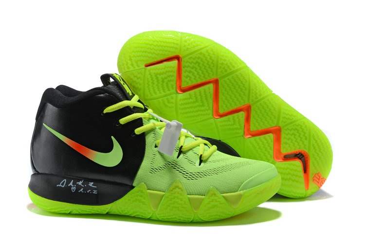separation shoes ec355 248cf 2018 Nike Kyrie Shoes x Cheap Nike Kyrie 4 PE Neon Green Black Orange