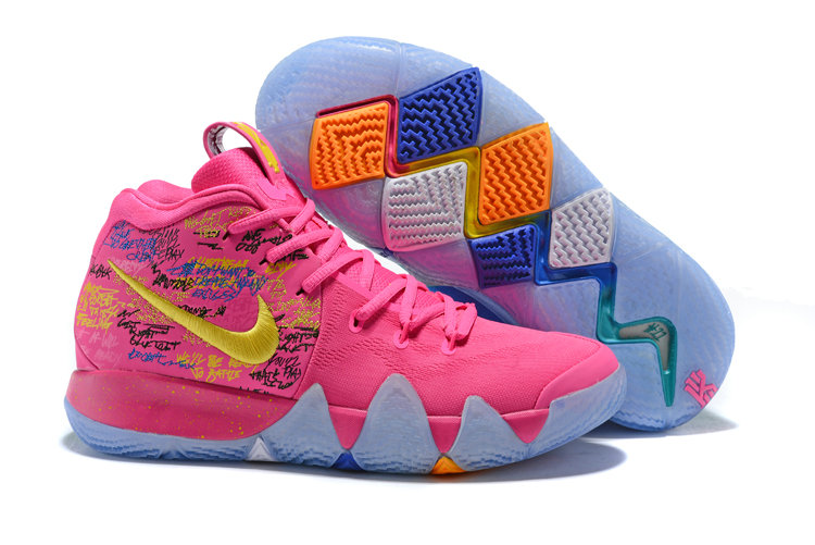 low priced 38123 68e6a 2018 Nike Kyrie Shoes x Cheap Nike Kyrie 4 What The Pink Teal Christmas