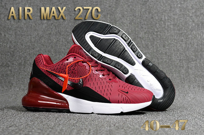 2018 Nike Air Max 270 Burgundy Black White Red Mens Cheap