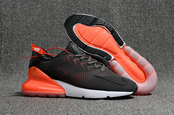 2018 Nike Air Max 270 Rubber Patch Black White Orange Cheap Online ... 11c0270c9