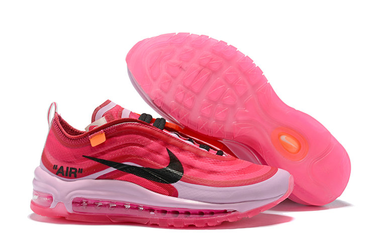 747145bc63 2018 Nike Air Max 97 SneakerBoots OFF-WHITE Pink Red White Black Cheap Sale