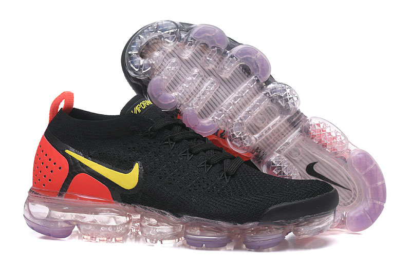 2018 Nike Air VaporMax Flyknit 2.0 Black Red Yellow Cheap Sale ... 19c981c1a