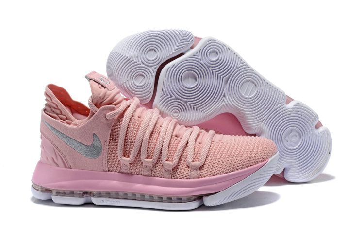 2018 Nike Kevin Durant x Cheap Nike KD 10 Aunt Pearl Pink Pearl White-Sail