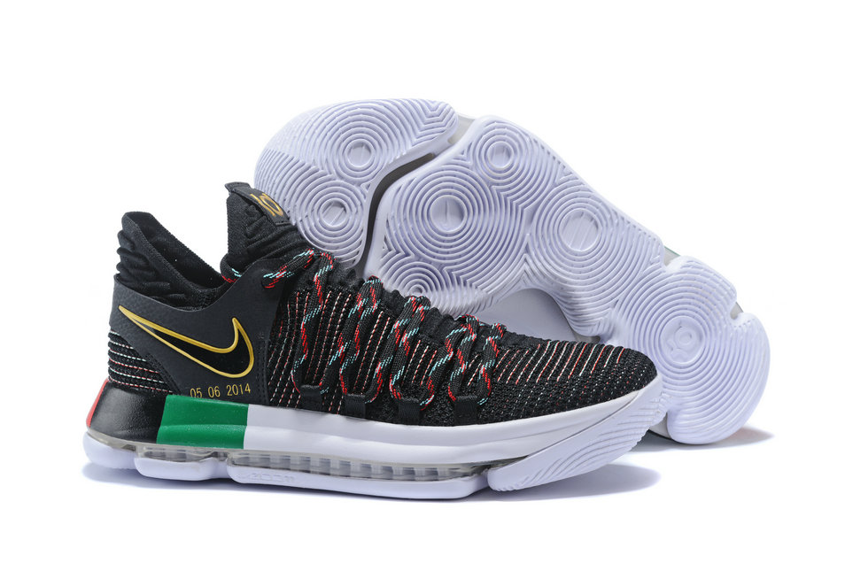 huge discount 2a1c3 08aae 2018 Nike Kevin Durant x Cheap Nike KD 10 BHM Black Multi ...