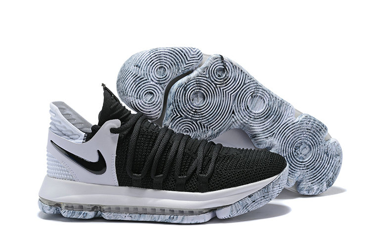 2018 Nike Kevin Durant x Cheap Nike KD 10 Black And White Colorways
