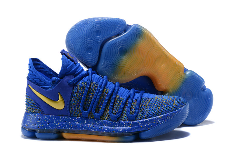 2018 Nike Kevin Durant x Cheap Nike KD 10 Finals Racer Blue Metallic Gold