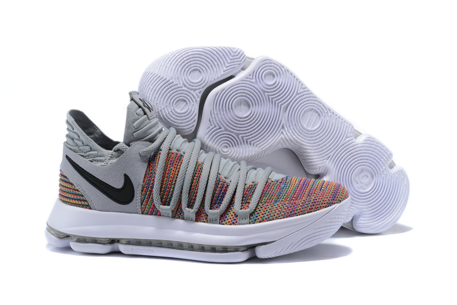 358fe6aaab95 2018 Nike Kevin Durant x Cheap Nike KD 10 Multi-Color Black-Cool Grey. Loading  zoom