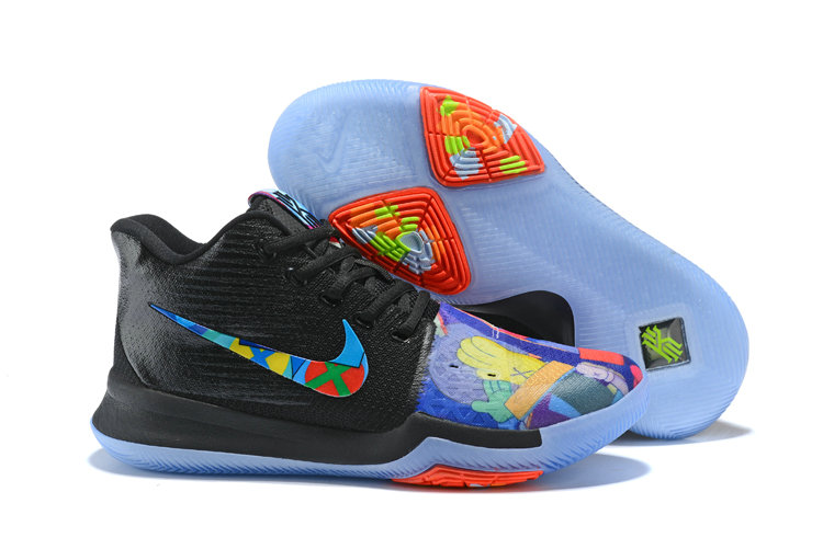 2018 Nike Kyrie Irvings 3 III Black Colorful Cheap Sale