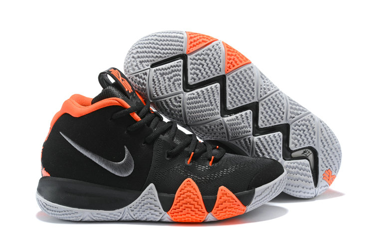 low priced 9e8c0 59895 2018 Nike Kyrie Irvings 4 Black Orange White Cheap Sale