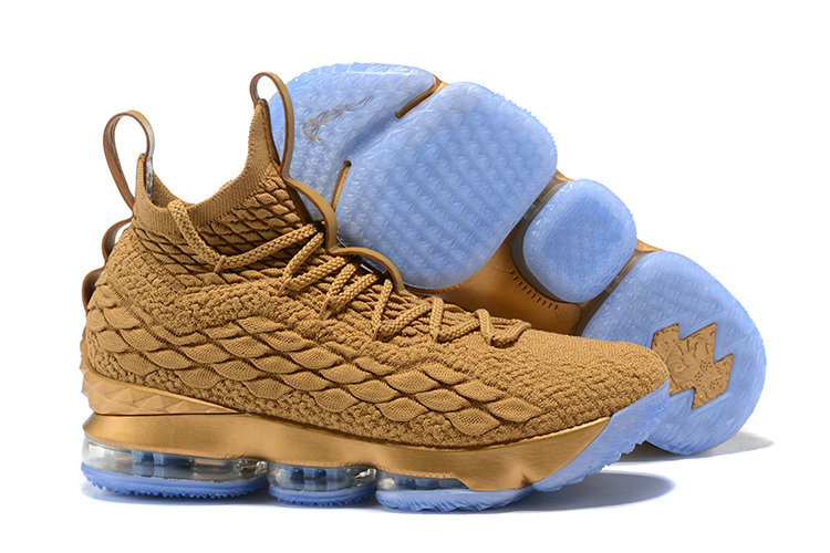 811cedc99ee 2018 Nike Lebron Shoes x Cheap Nike LeBron 15 Metallic Gold Dust Custom