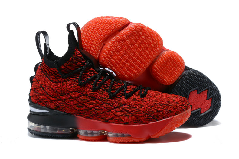 2018 Nike Lebron Shoes x Cheap Nike Lebron 15 Player Exclusives Red Black