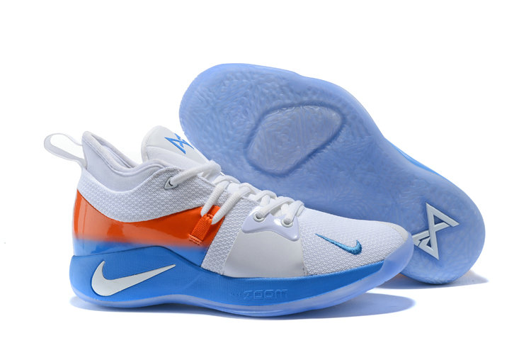 4aecb23f1806 2018 Nike Paul George 2 x Cheap Nike PG2 Against Nets Thunder-themed ...