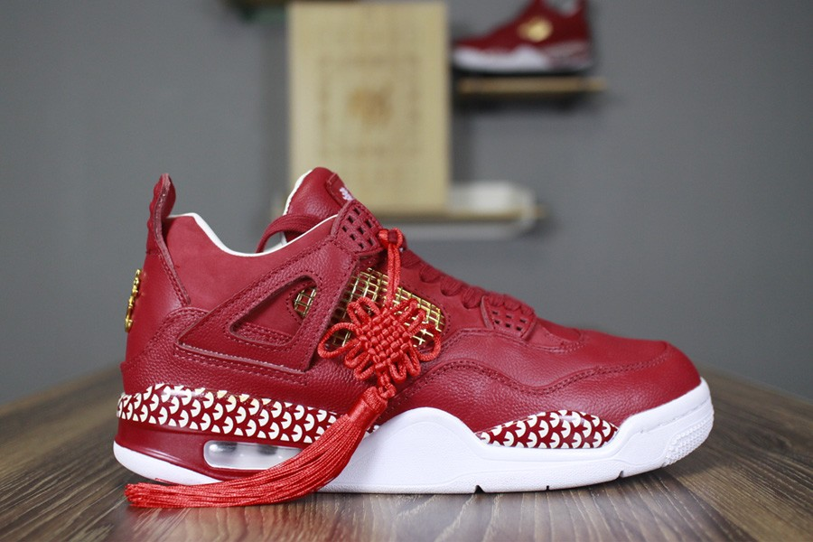 2018 Remade x 400ml Red Air Jordan 4 CNY Chinese New Year Custom For Sale