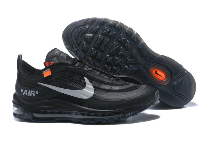 3ea77aff16 2018 Womens Nike Air Max 97 SneakerBoots OFF-WHITE Black Cheap Sale ...