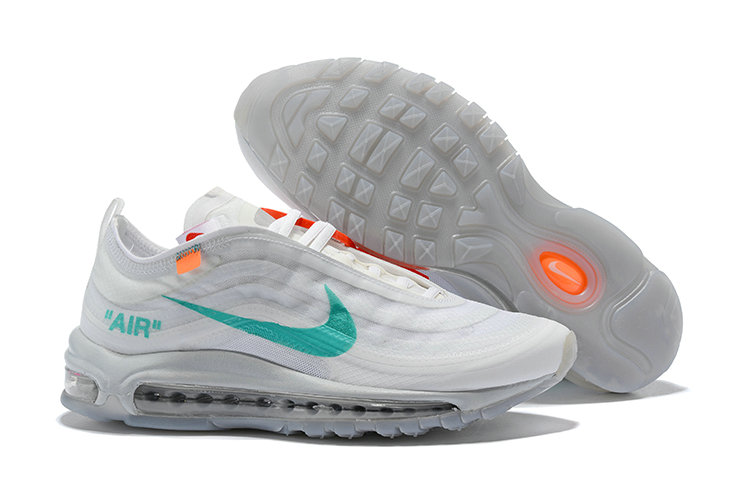 9ffe7e037b 2018 Womens Nike Air Max 97 SneakerBoots OFF-WHITE Green White Cheap Sale