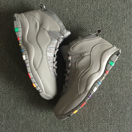 2018 Cheapest Sale Nike Air Jordans 10 (X) Retro Grey Colorful For Mens
