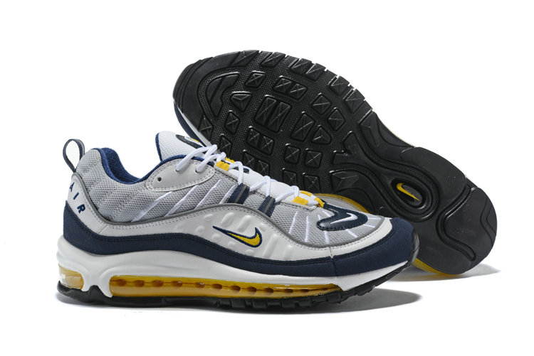 best service 4b837 393b4 2018 NikeLab Air Max x Cheap Nike Air Max 98 White Tour Yellow-Midnight Navy