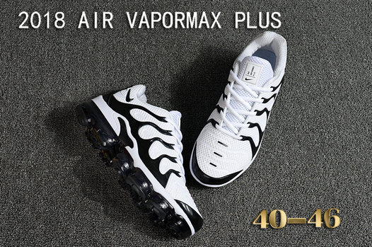 a8c0c8da0ce 2018 Cheapest Sale Nike Air VaporMax Plus Mens White Black - Cheap ...
