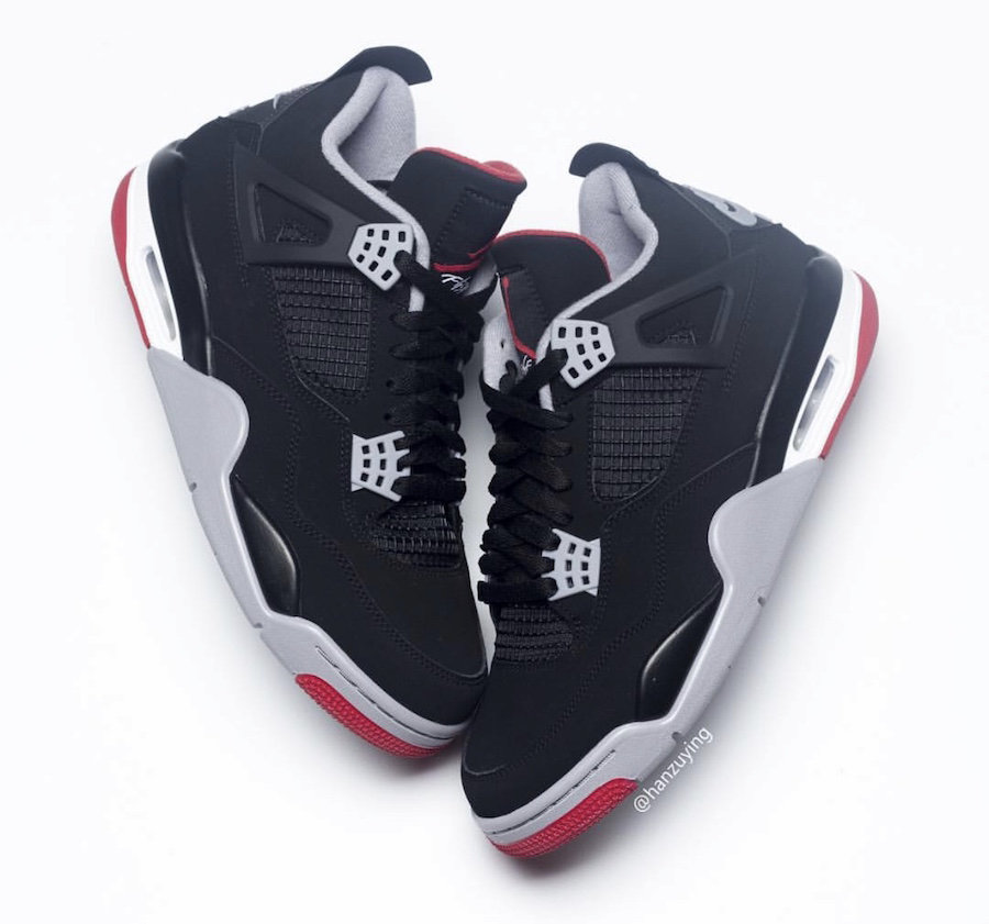 0d3baee0f78 2019 Cheap Air Jordan 4 Black Cement Grey-Fire Red 308497-060