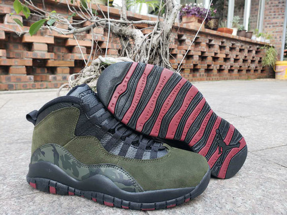 2019 Cheap Nike Air Jordan 10 Olive Camouflage