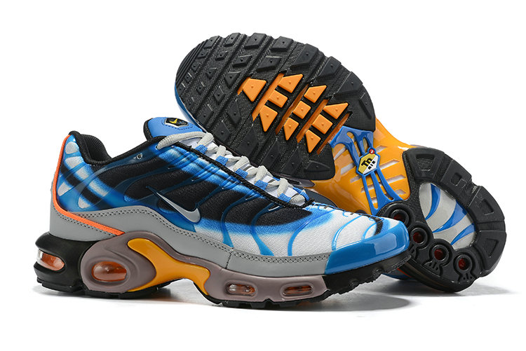 air max plus blue and yellow