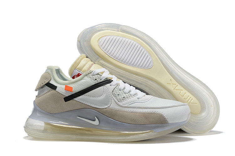 2019 Cheap OFF WHITE x Nike Air Max 720 x Air Max 90 Sail