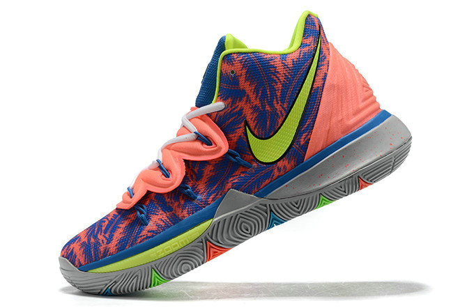 Where To Buy 2019 Nike Kyrie 5 EYBL Grey Peach-Crimson-Blue-Lime Green For Sale