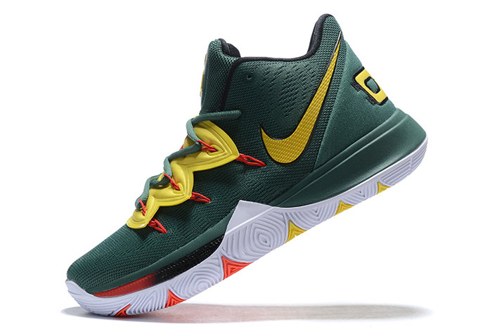 Where To Buy 2019 Nike Kyrie 5 Gorge Green Metallic Gold-Red For Sale