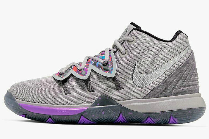 Where To Buy 2019 Nike Kyrie 5 Graffiti Atmosphere Grey Metallic Silver AQ2458-001
