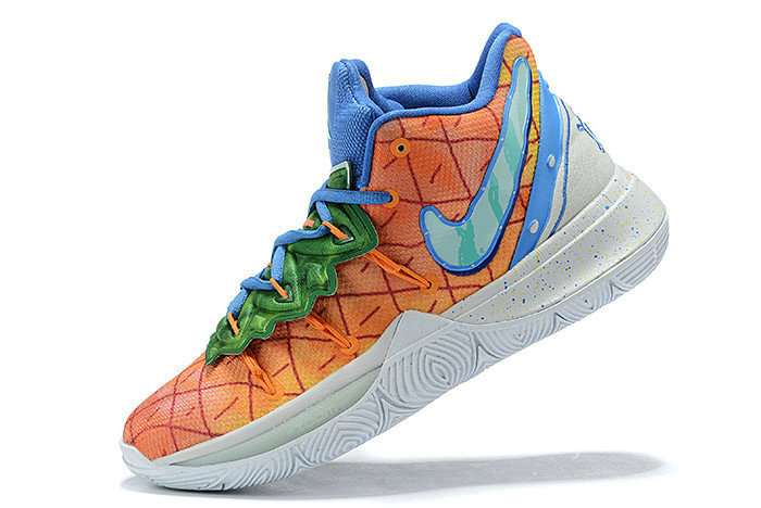 Where To Buy 2019 SpongeBob x Nike Kyrie 5 Pineapple House Orange Peal Teal Tint CJ6951-800
