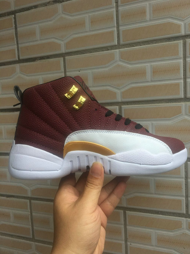 2019 Where To Buy Cheap Nike Air Jordan 12 Burgundy White Gold