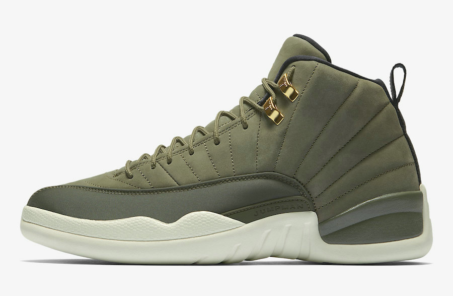 2019 Where To Buy Cheap Nike Air Jordan 12 CP3 Class of 2003 Olive Canvas Sail Black-Metallic Gold 130690-301
