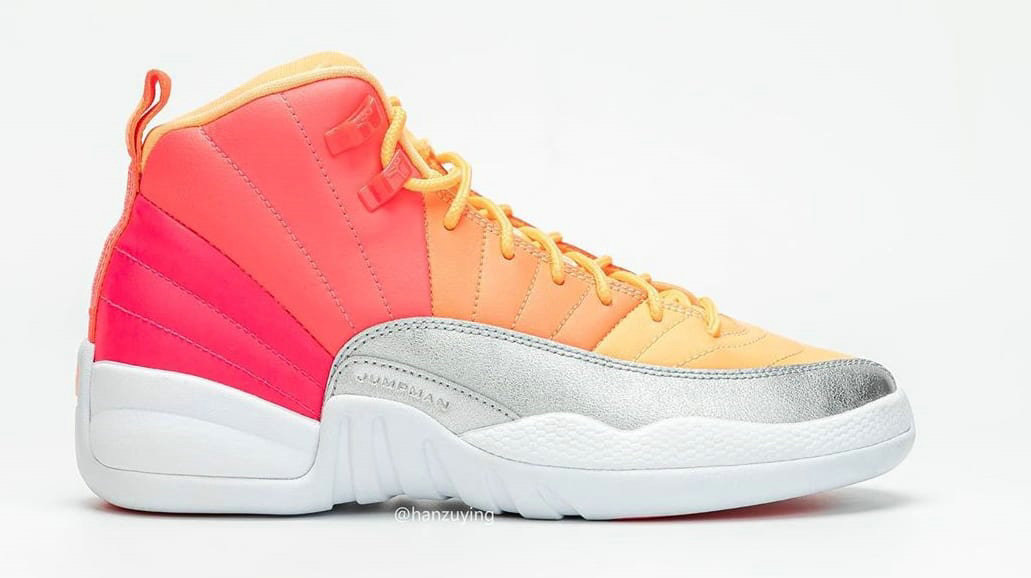 2019 Where To Buy Cheap Nike Air Jordan 12 Retro Hot Punch Racer Pink Hot Punch-Bright Mango-White 510815-601